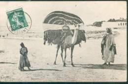 FRANCE TYPE SEMEUSE N°137 OB. SETIF ALGERIE 1909 SUR CPA LES BASSOURS POUR PARIS TB - 1900-29 Blanc