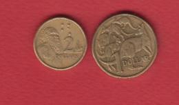 Australie --  Lot De 2 Monnaies - Monnaie Décimale (1966-...)