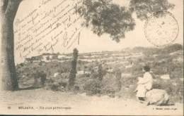 FRANCE TYPE SEMEUSE N°130 OB. POINTE -PESCADE RARE ALGERIE 1918 SUR CPA MILIANA POUR ALGER TB - 1900-29 Blanc