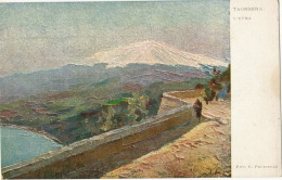 Art Card Taormina L' Etna Pitt. E. Polesello - Other Cities