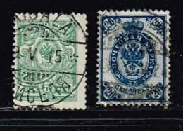 Finnland 1911, Michel# 58 BI + 62 A (14x14) O - 1856-1917 Administration Russe