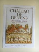925 - Suisse  Vaud Château De Denens - Etiquettes