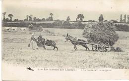 Carte LES TRAVAUX DES CHAMPS - Un Charretier Courageux - Spannen