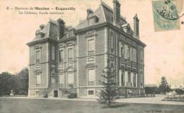 ECQUEVILLY.Le Château, Façade Intérieure - Environs De Meulan - France