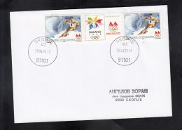 MACEDONIA, 1998, SPECIAL CANCEL, XVIII OLYMPIC GAMES, SKIING, NAGANO, JAPAN * - Skisport