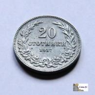 Bulgaria - 20 Stotinki - 1917 - Bulgaria