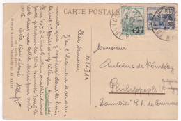 CP475 France Guebwiller Fontaine Postcarte With Stamps Orphelins De Guerre - France