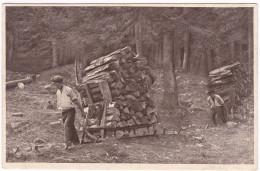 CP477 France 1923 Schlitteurs Dans Les Vosges Holzschlitter In Den Vogesen - Thaon Les Vosges
