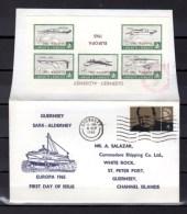 Guernsey Alderney, FDC, Europa  1965, Poste Locale, Churchill, - Emisiones Locales