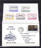 1965  Guernsey, FDC, Europa,  Airplanes  Avions De Ligne Régulières - Local Issues