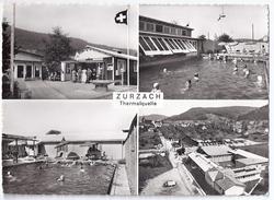 ZURZACH: Thermalquelle, 4-Bild-AK Inkl. Fliegeraufnahme 1961 - AG Argovie