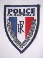 INSIGNE TISSUS PATCH POLICE MUNICIPALE ETAT EXCELLENT - Polizia