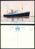 BARCOS SHIP BATEAU PAQUEBOT STEAMER [BARCOS #0620] - ROYAL MAIL SERVICES - RMS LOCH GARTH - Steamers