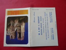 Calendrier De Poche Publicitaire 1974 LE MANS Boucherie Chevaline GEORGET Charcuterie Volailles Avenue Paderborn SARTHE - Calendarios