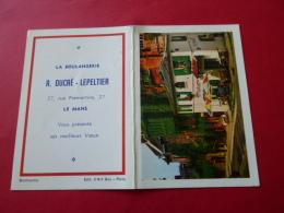 Calendrier De Poche Publicitaire 1970 LE MANS Boulangerie DUCRE LEPELTIER Rue Premartine  SARTHE - Petit Format : 1961-70