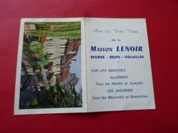 Calendrier De Poche Publicitaire 1963 LE MANS MAISON LENOIR  Beurre Oeuf  Marchés  Allonnes Jacobins    SARTHE Colmar - Petit Format : 1961-70