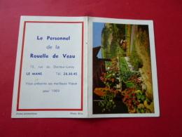 Calendrier De Poche Publicitaire 1969 LE MANS Boucherie Charcuterie ROUELLE DE VEAU Rue Docteur Leroy     SARTHE  Alpes - Petit Format : 1961-70