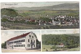 WETTINGEN-Dorf: 3-Bild-AK Mit Gasthof Rebstock Und Restaurant Mooshalde 1915 - AG Argovie