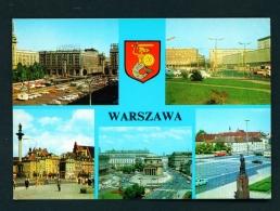 POLAND  -  Warsaw  Multi View  Used Postcard - Poland