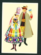 POLAND  -  Regional Costume  Lowicz Region  Unused Postcard - Costumes