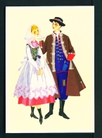 POLAND  -  Regional Costume  Rzeszow Region  Unused Postcard - Costumes