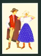 POLAND  -  Regional Costume  Cieszyn Region  Unused Postcard - Costumes