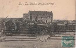 ISSY LES MOULINEAUX Fort, Casernes En Ruines Après Le Bombardement Des Prussiens 1870-71, Canons - Issy Les Moulineaux