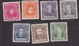 El Salvador, Scott #596-602, Used, Famous Men, Issued 1947 - Salvador