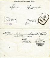 BIGLIETTO CAMPO PRIGIONIERI INDIA POW CAMP 28 YOL 1945 X DEIVA - 1900-44 Vittorio Emanuele III