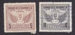 El Salvador, Scott #C122-C123, Mint Hinged/Used, UPU, Issued 1949 - El Salvador