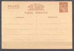 France Carte Postal Entier Postal YT N°SANS VALEUR-CP1 Iris Neuf ** - Ganzsachen