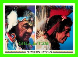 INDIENS - PREMIÈRES NATIONS, AMÉRINDIENS EN HABITS DE CÉRÉMONIE - DIMENSION 12X17cm - - Indiens De L'Amerique Du Nord