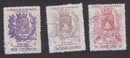 El Salvador, Scott #687,690, C180, Used, Coat Of Arms Of Nueva San Salvador, Issued 1957 - El Salvador