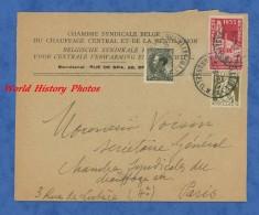 Enveloppe Ancienne - BRUXELLES - Chambre Syndicale Du Chauffage Central & Ventilation - Etiquette Expo Universelle 1935 - Belgique