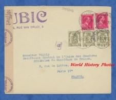 Enveloppe Ancienne - BRUXELLES - Maison UBIC , Rue Van Orley - Censure Nazi Cachet - 1943 - Unclassified