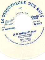 Disque Vinyle Souple Offert Par Rhums Créole Et Rocroy, Apéritifs Dauré Et Porto Cruz : Je Te Tendrai Les Bras (rose1) - Formats Spéciaux
