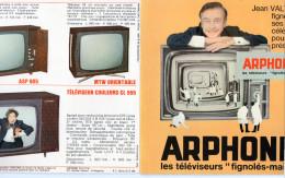 Disque Vinyle Souple Offert Par ARPHONE, Téléviseurs, Jean Valton.Pochette Carton  (rose2) - Formats Spéciaux