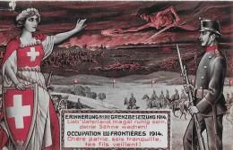 ERINNERUNG AN DIE GRENZBESETZUNG 1914 → Off. Feldpostkarte Anno 1914 - Weltkrieg 1914-18