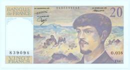 France - 20 Francs Debussy 1987  Alphabet : O.018 Splendide 1 Billet - 1962-1997 ''Francs''