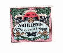 Vignette Militaire Delandre - Artillerie - 8ème Groupe D'Afrique - Erinnofilia