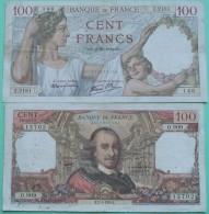 France - 100 Francs Sully 5 10 1939 Et Corneille 2 1 1976 Lot 2 Billets - Non Classificati