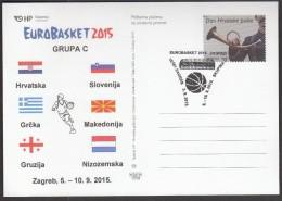 Croatia Zagreb 2015 / Basketball / EUROBASKET 2015 / Group C /Croatia, Slovenia, Greece, Macedonia, Georgia, Netherlands - Baloncesto