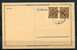 Germany 1922 Postal Card Canceled Pair - Germany