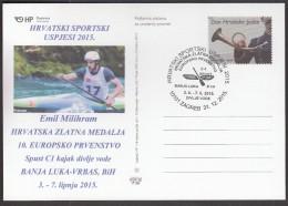 Croatia Zagreb 2015 / Croatian Sports Successes In 2015 / EC Banja Luka - Vrbas, Downhill C1 / Gold Emil Milihram - Canoë