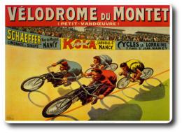 Vélodrome Du Montet - Une Ancienne Affiche Reproduite Carte Postale - Radsport