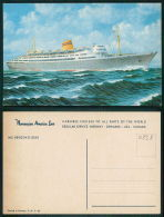 BARCOS SHIP BATEAU PAQUEBOT STEAMER [BARCOS #0838] - NORWEGIAN AMERICA LINE - MS BERGENSFJORD - Dampfer