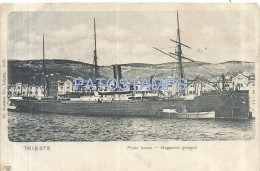 50929 ITALY TRIESTE FRIULI PUNTA FRANCO & SHIP POSTAL POSTCARD - Italy