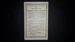AMELIA DELANNOY. 103 JARIGE, Geb Te Kortrijk 1792- Aldaar Overl 1896. 2 Scans - Images Religieuses