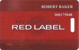 Borgata Casino Atlantic City NJ Slot Card - 4 Lines Text - Narrow My Borgata Rewards - Casino Cards