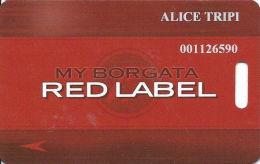 Borgata Casino Atlantic City NJ Slot Card - 6 Lines Text Reverse Are Aligned At Left - Casino Cards